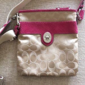 Pink Coach messenger bag